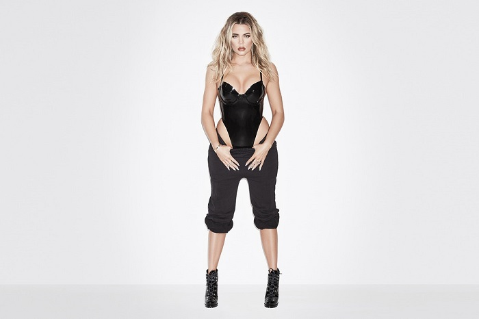 Khloe Kardashian's Good American is Releasing a Line of Sweats black sweat pants black pvc bodysuit