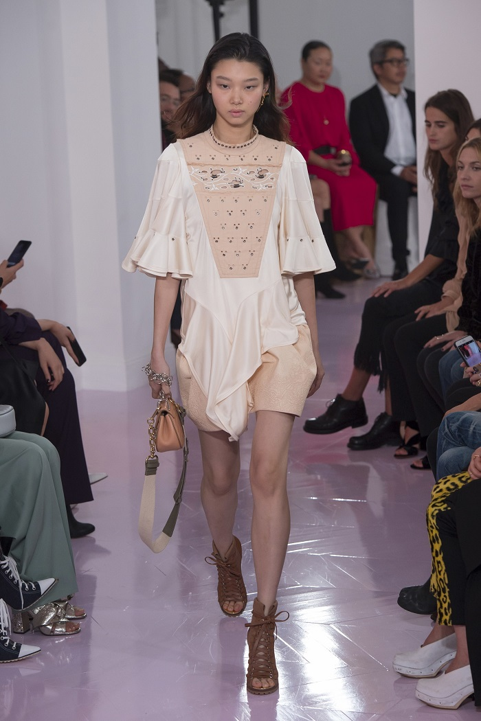 Chloé RTW Spring 2018 Collection at PFW embellished dress