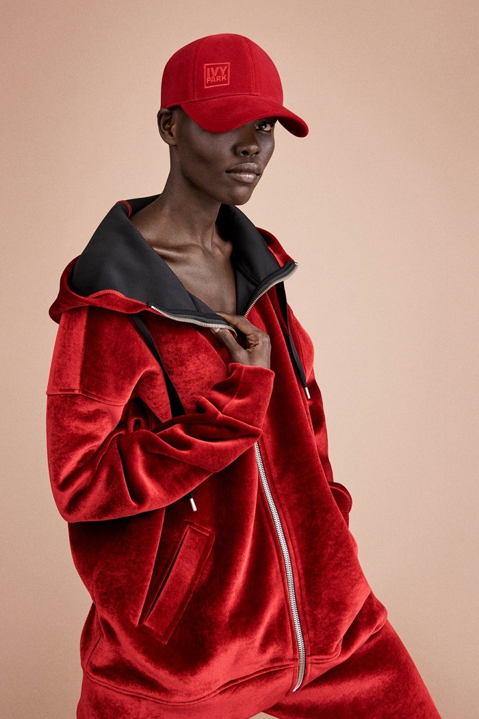 pamella-roland-spring-2018-collection-at-nyfw- red hoodie
