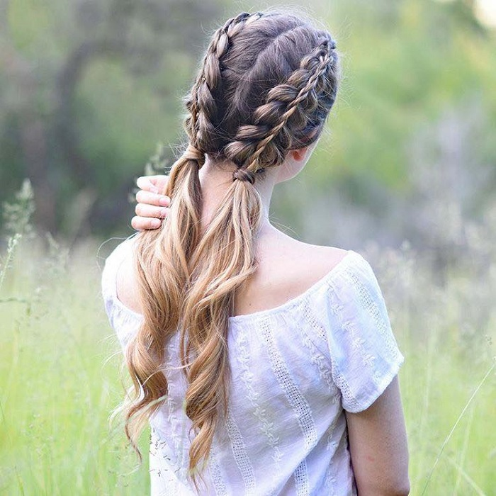 23 Gorgeous Dutch Braid Hairstyles double Dutch braid