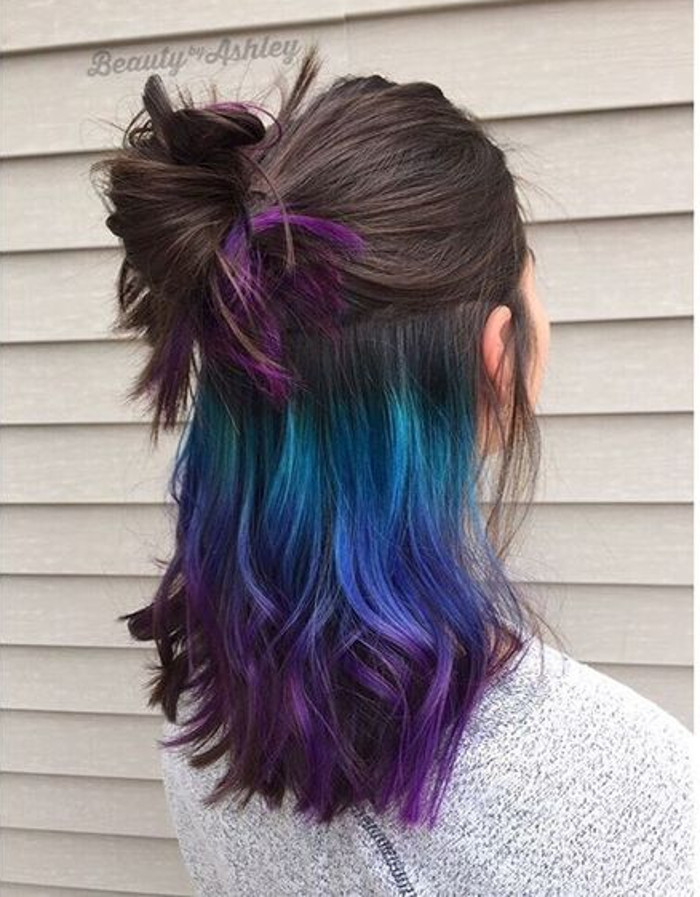 Dare to Dye Insanely Gorgeous Bold Hair Colors purple and blue hair