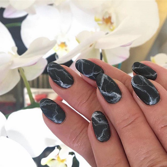 Fun Matte Nail Designs To Try marble nails