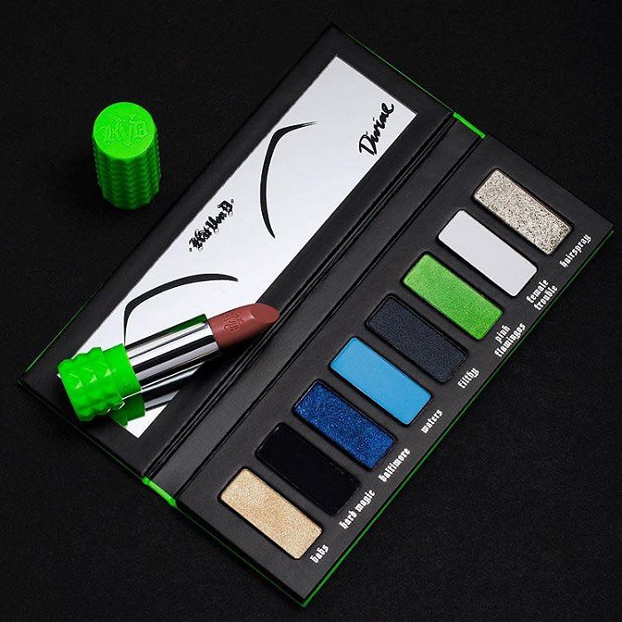 "Kat Von D X Farm Sanctuary Collaboration And The ""Divine"" Palette divine palette and lipstick"