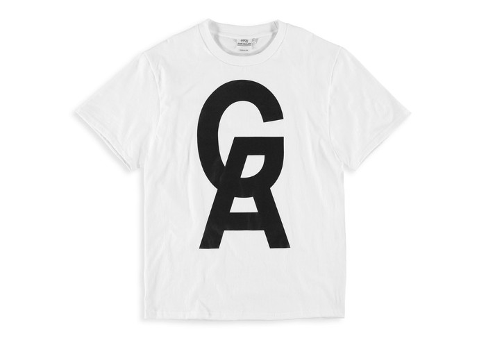 Khloe Kardashians's Good American x VFILES Collaboration & Pop-up Store white logo tee