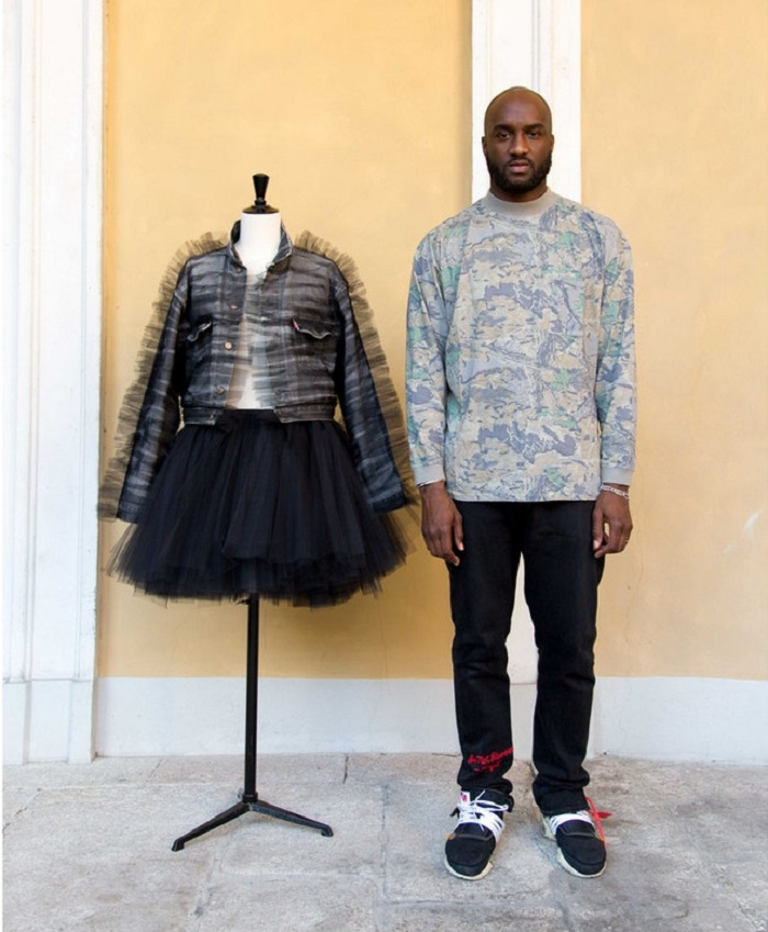 Levi's Tapped 50 Influencers to Celebrate the 50th Anniversary of the Trucker Jacket Virgil Abloh black denim jacket