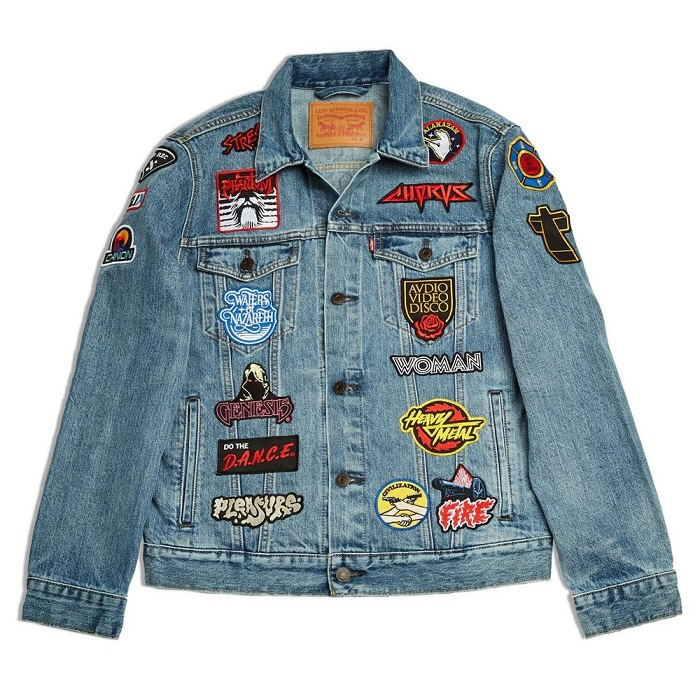 Levi's Tapped 50 Influencers to Celebrate the 50th Anniversary of the Trucker Jacket patched denim jacket