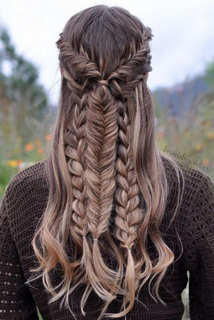 Next Level Braids 2 types of braids on long hair