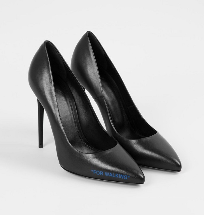 "Off-White™ And Colette Released The ""SCULPTURE"" Capsule black stiletto heels"