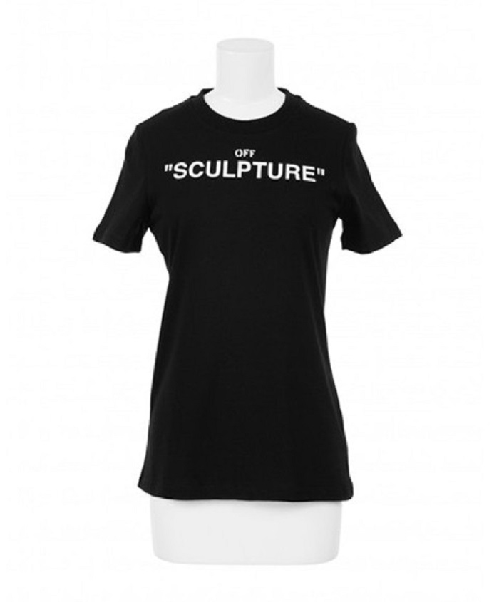 "Off-White™ And Colette Released The ""SCULPTURE"" Capsule black t-shirt"