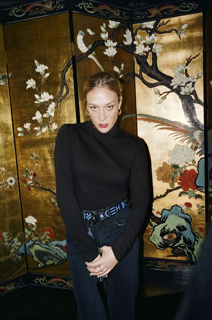 Proenza Schouler Launches Affordable Sister Line & Chloë Sevigny Models It black turtleneck, logo belt and jeans