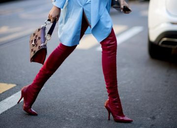 Red Boots Are This Fall's Must-Have