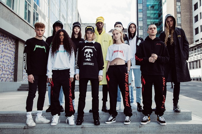 Selfridges And Metallica Unveil A Capsule Designed By Justin O'Shea collection shirts sweatshirt trousers coats hats