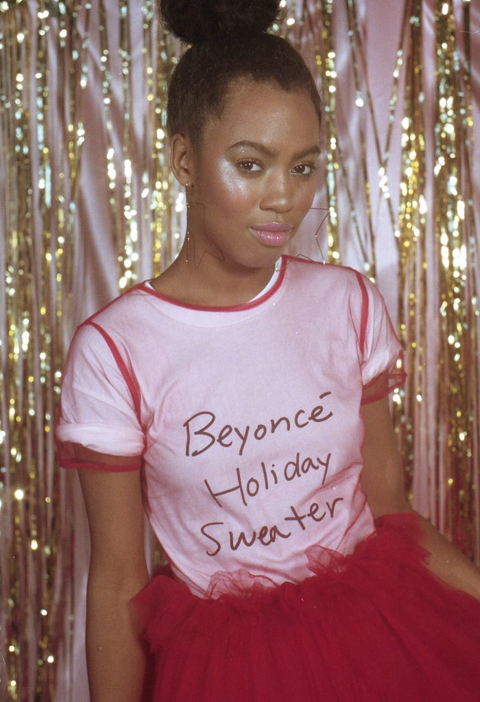 Beyoncé Dropped Holiday Merchandise white t shirt