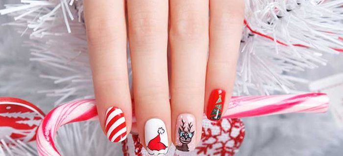 Fancy Holiday-Inspired Nail Designs
