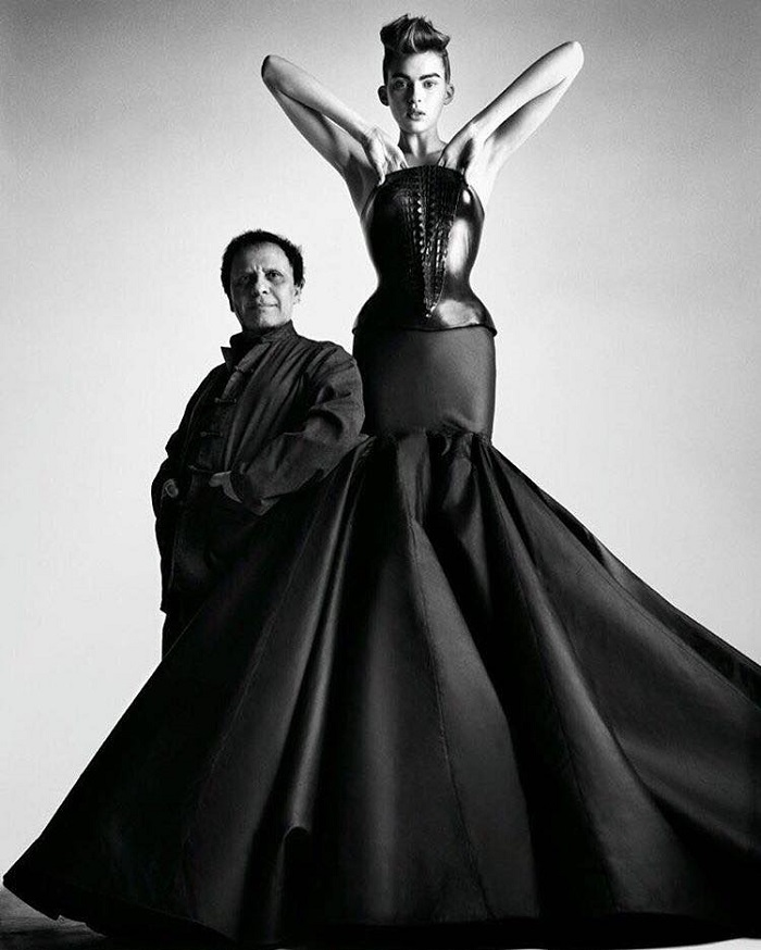 The Fashion World Mourns The Death Of Azzedine Alaïa black dress