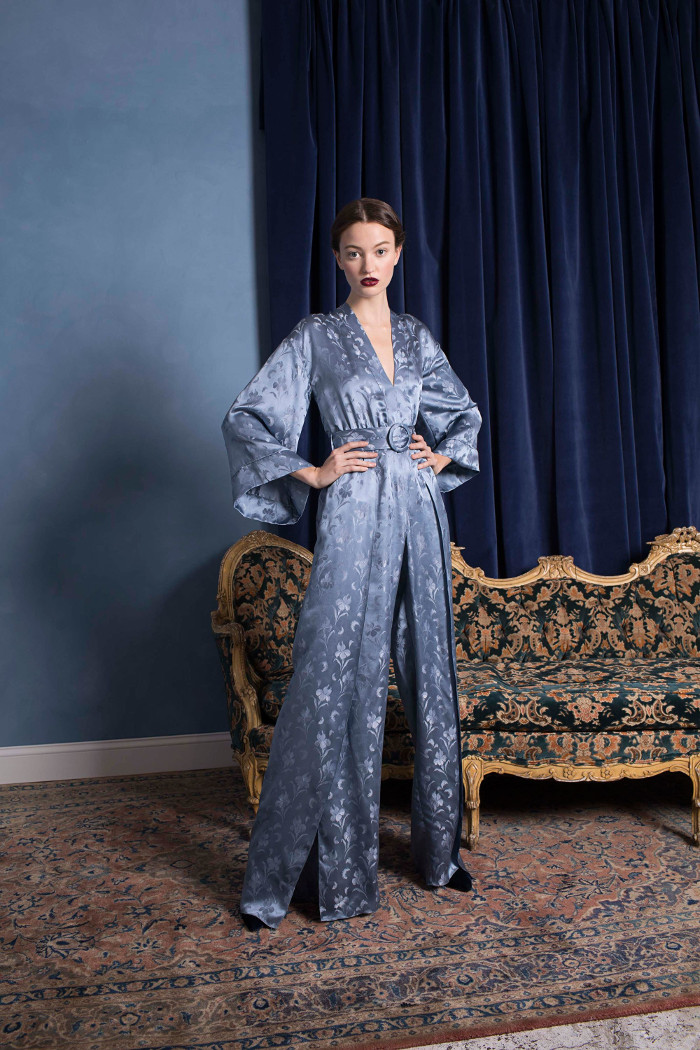 Alice and Olivia Pre Fall 2018 Collection satin maxi dress