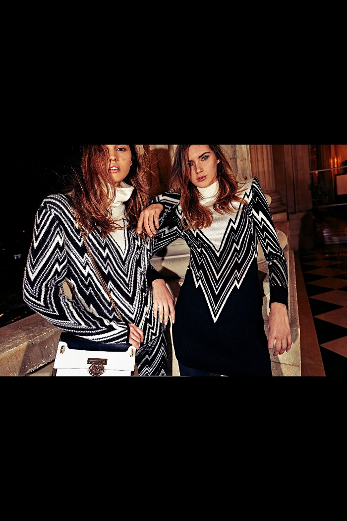 Balmain Pre-Fall 2018 Collection black and white sweaters