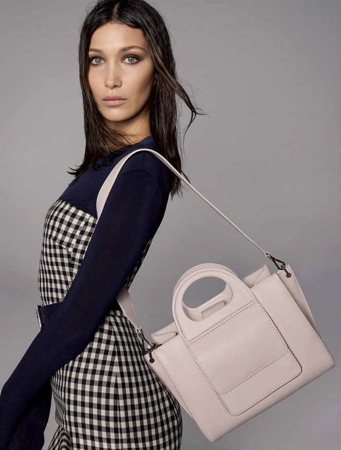 Bella Hadid Fronts Max Mara's Spring 2018 Accessories Campaign ivory bag
