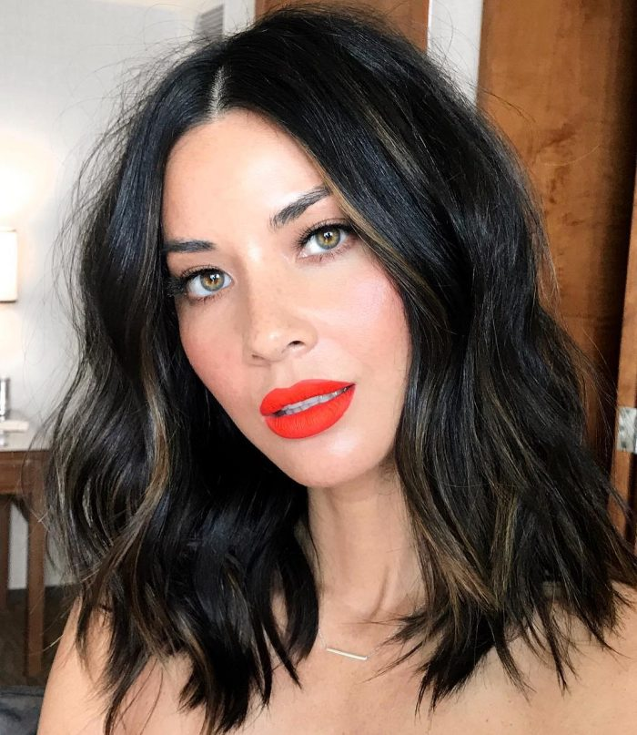 Celebrity-Approved Orange Lipstick Looks Olivia Munn