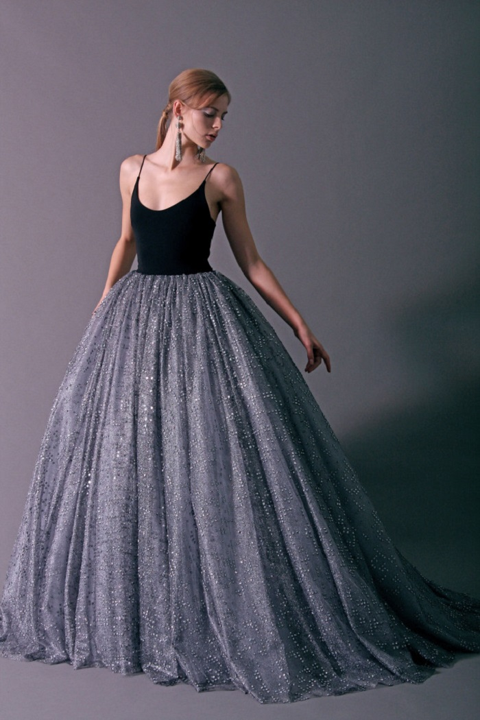 Christian Siriano Pre-Fall 2018 Collection long embellished dress