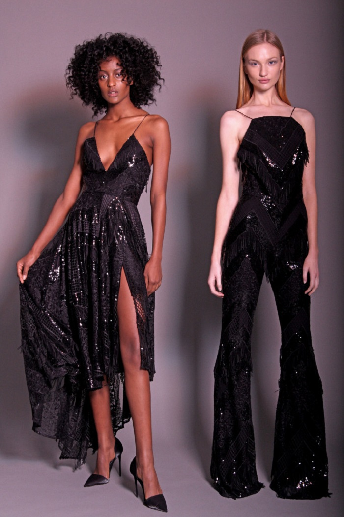 Christian Siriano Pre-Fall 2018 sequined midi dress sequined jumpsuit