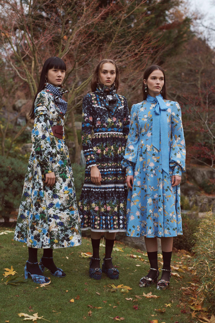 Erdem Pre Fall 2018 Collection floral dresses