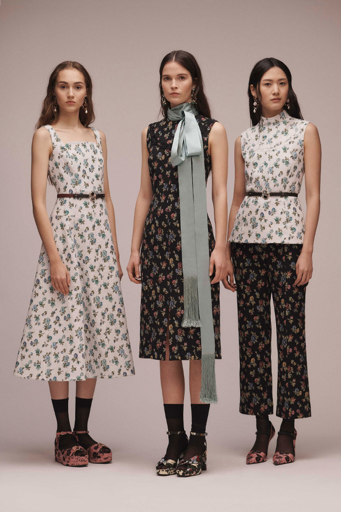 Erdem Pre Fall 2018 Collection floral outfits