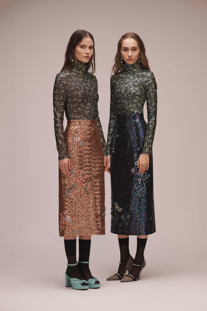 Erdem Pre Fall 2018 Collection sequined dresses