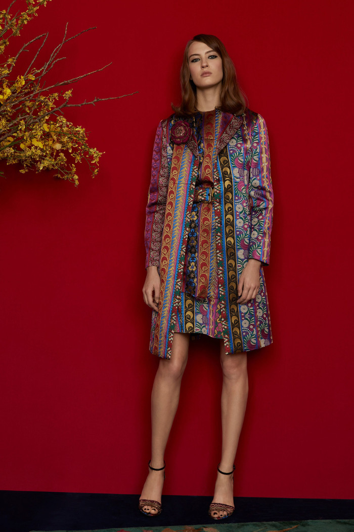 Etro Pre Fall 2018 Collection dress and coat coordinates