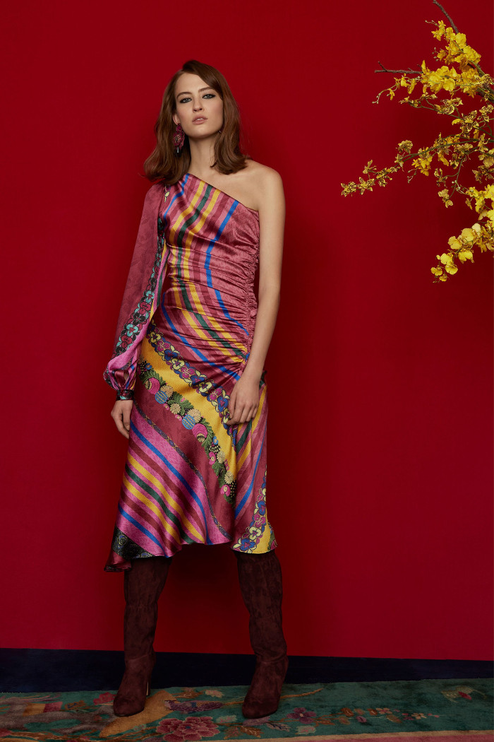 Etro Pre Fall 2018 Collection satin dress