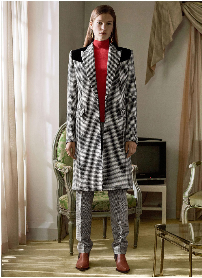 Givenchy Pre Fall 2018 Collection check coat