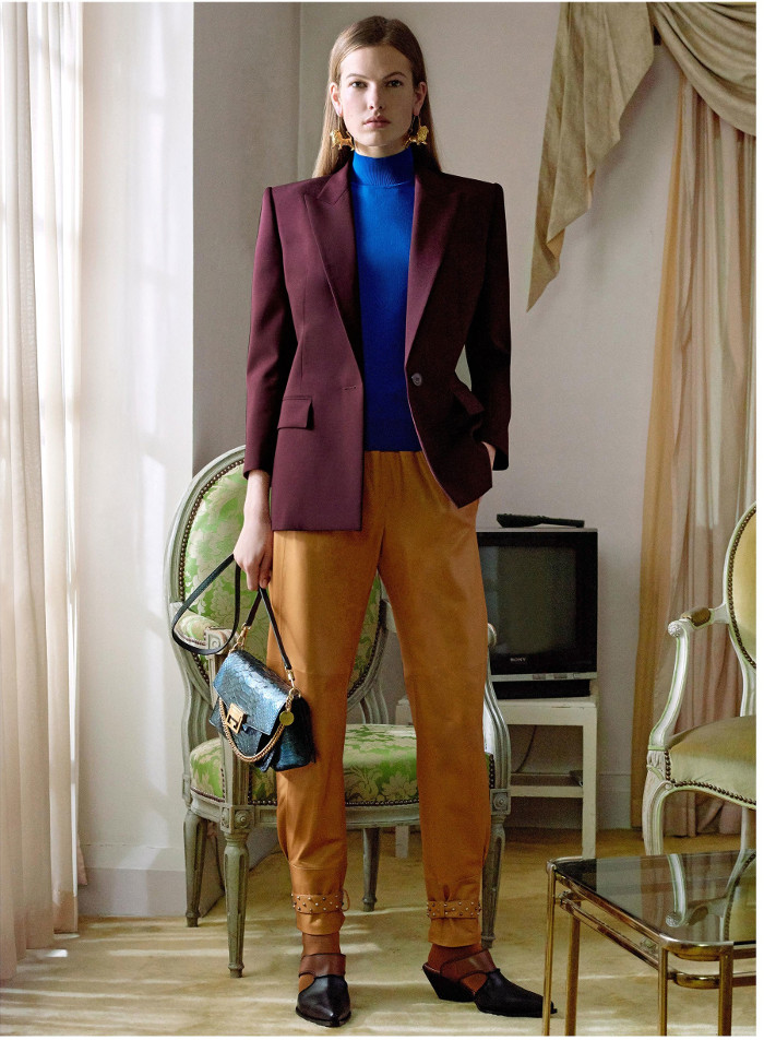 Givenchy Pre Fall 2018 Collection blazer, turtleneck and trousers