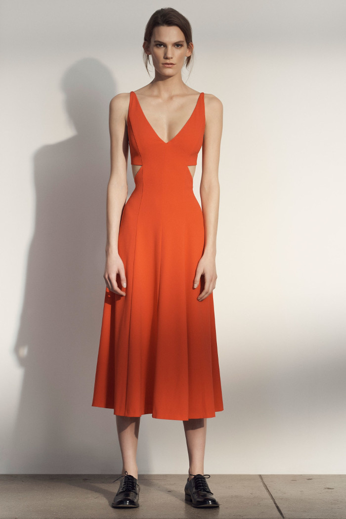 Grey Jason Wu Pre Fall 2018 Collection orange midi dress