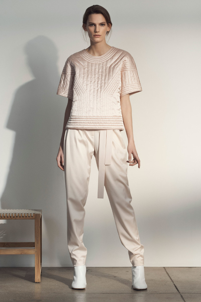 Grey Jason Wu Pre Fall 2018 Collection beige outfit