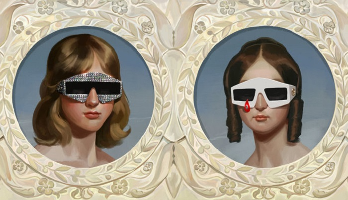 "Gucci's Spring 2018 ""Utopian Fantasy"" Campaign embellished sunglasses"