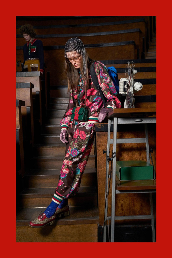 Gucci Pre Fall 2018 Collection floral tracksuit