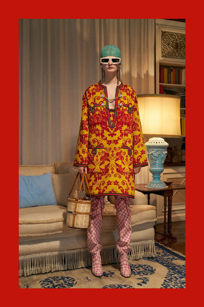 Gucci Pre Fall 2018 Collection printed coordinates