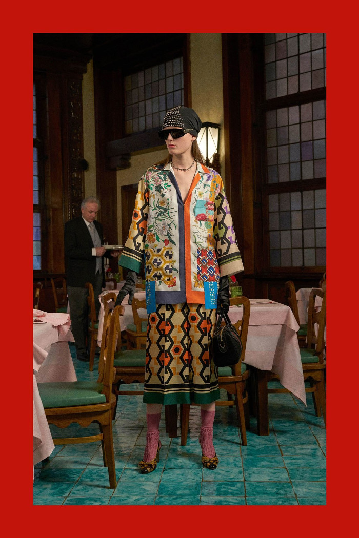 Gucci Pre Fall 2018 Collection patterned coordinates