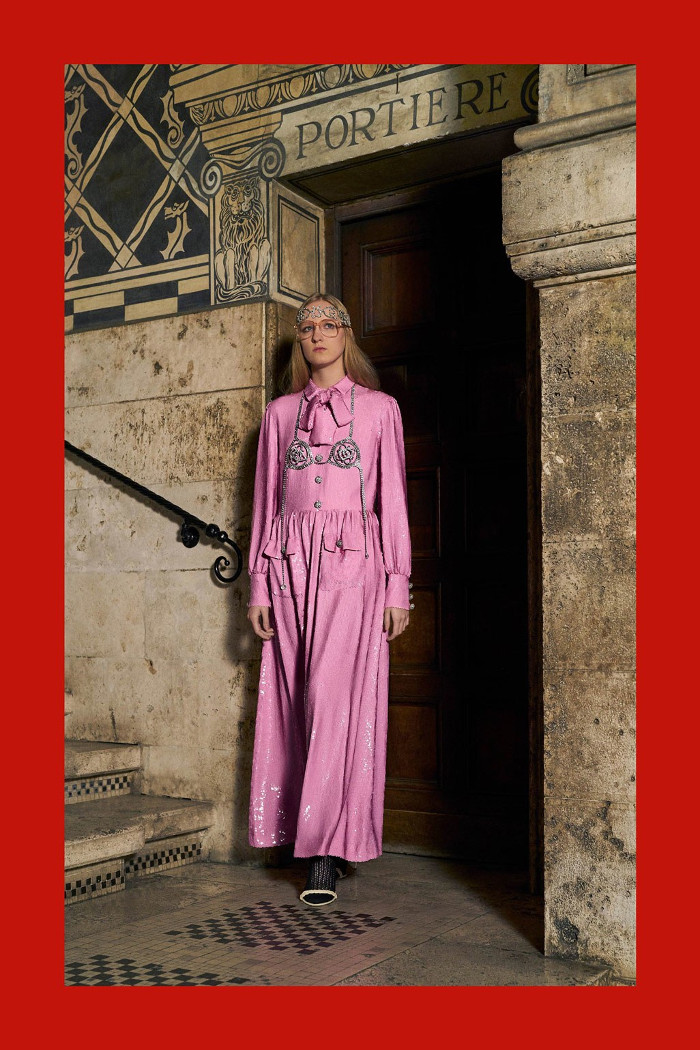 Gucci Pre Fall 2018 Collection pink maxi dress