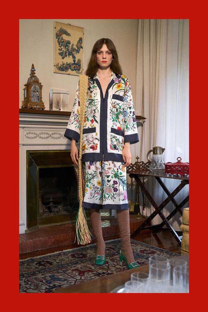 Gucci Pre Fall 2018 Collection floral coordinates