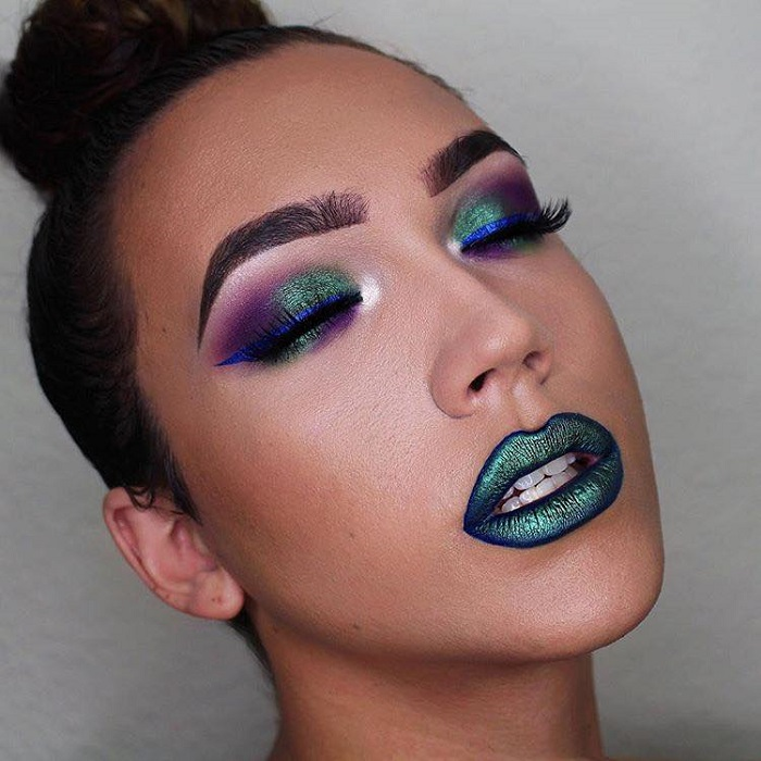 Insane Lipstick Colors Ideal For Party Season green lipstick green purple makeup
