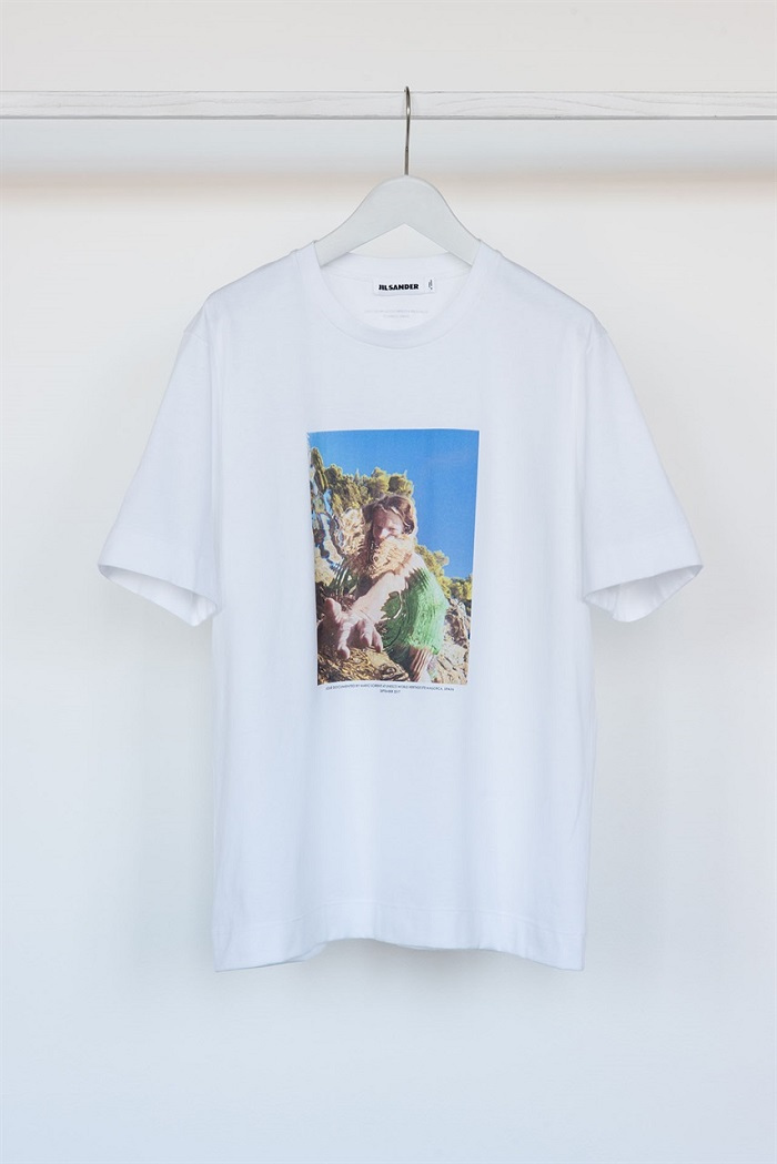 Jil Sander x Mario Sorrenti Exclusive Collab printed T-shirt