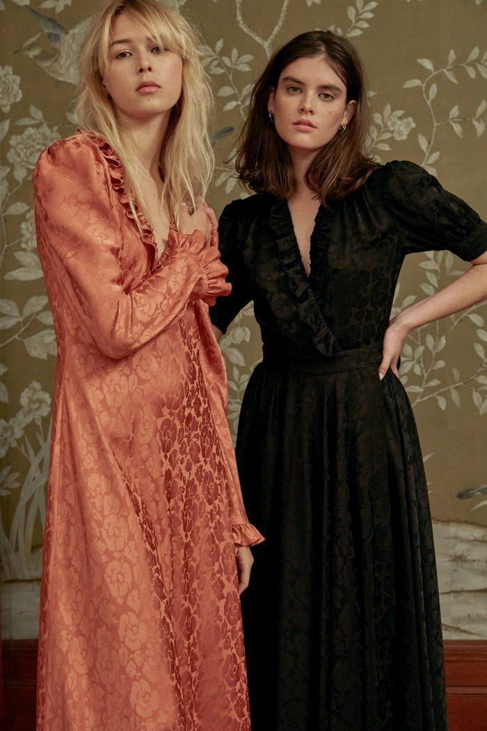 Jill Stuart Pre-Fall 2018 Collection black and orange dresses