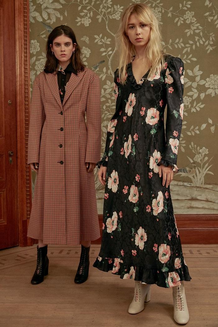 Jill Stuart Pre-Fall 2018 Collection floral dress coat