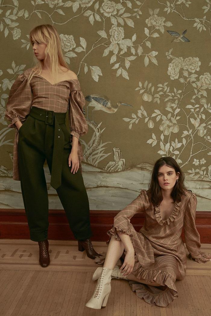 Jill Stuart Pre-Fall 2018 Collection high-waisted pants blouse dress