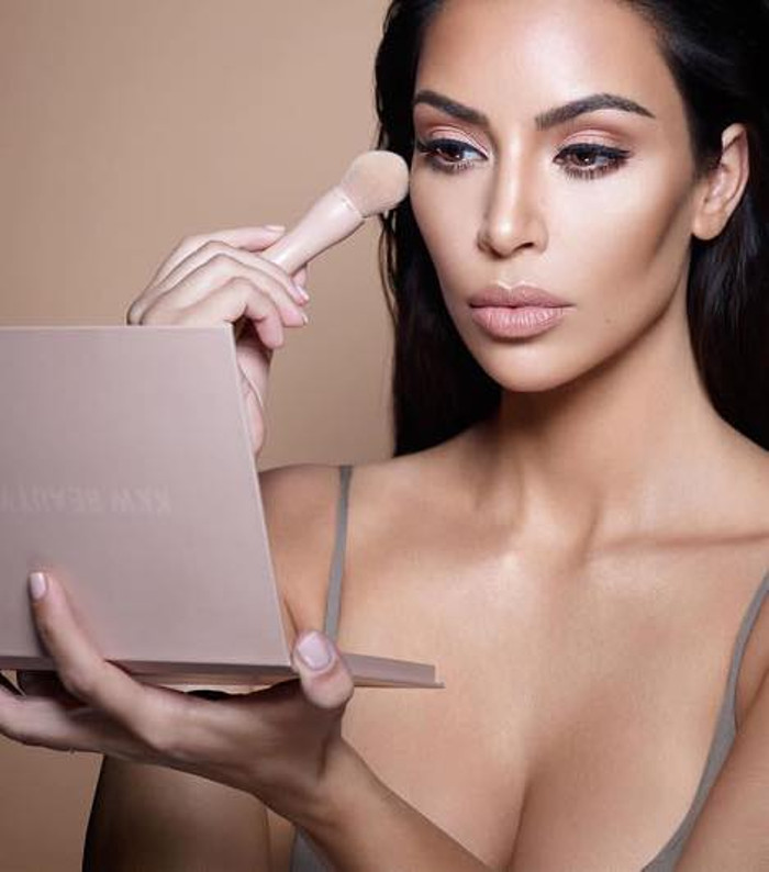 Kim Kardashian Has An Open Casting Call for KKW Campaigns Kim Kardashian contouring her face