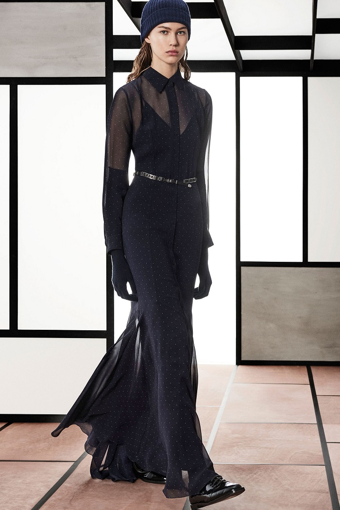 Max Mara Pre-Fall 2018 Collection black sheer dress