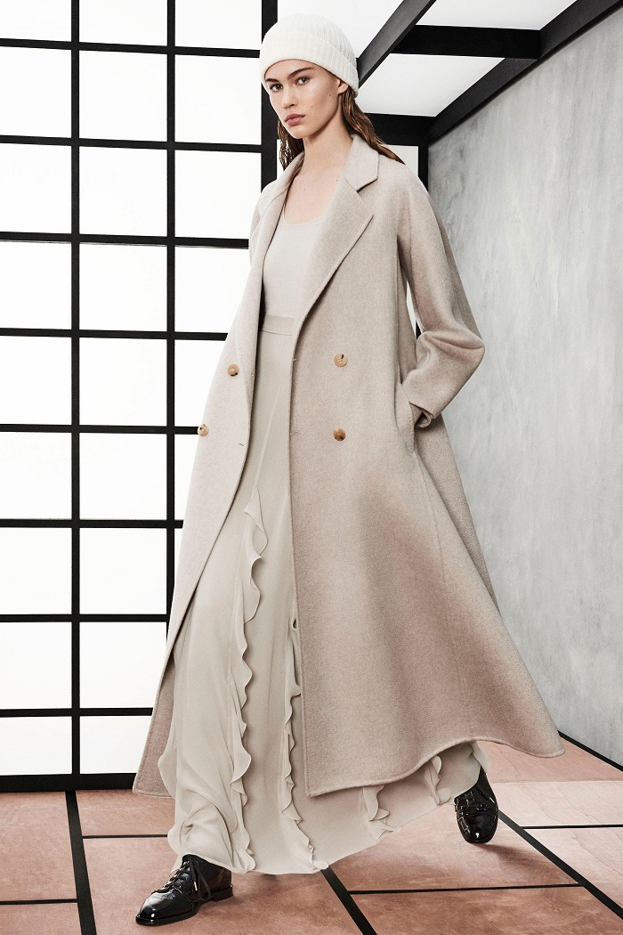 Max Mara Pre-Fall 2018 Collection ivory long coat skirt top