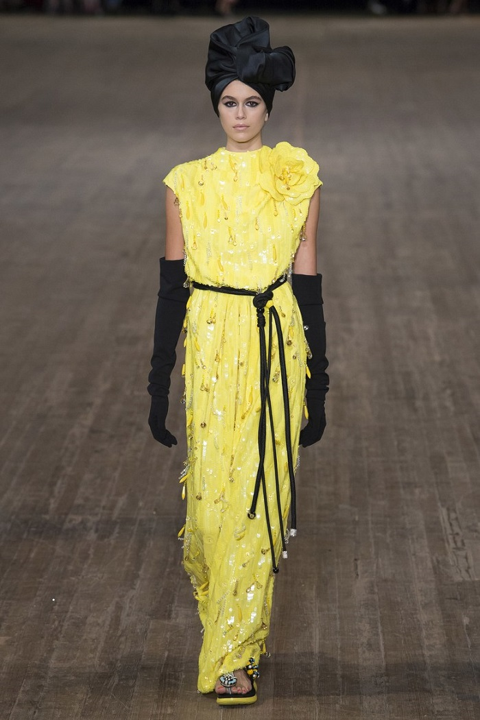 New York Fashion Week Introduces a Series of Changes Yellow Maxi Dress