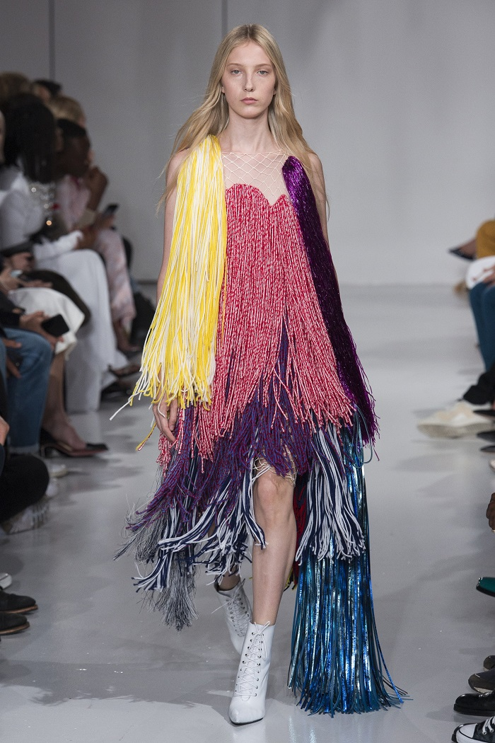 New York Fashion Week Introduces a Series of Changes Fringed Dress